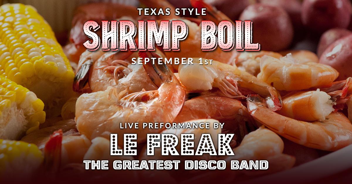 Texas Style Shrimp Boil | Le Freak -Disco Party - The Roundup